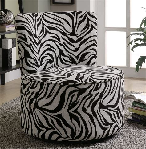 zebra print couch swivel accent chair in zebra pattern stargate cinema