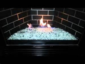 gas fireplace insert glass rocks gndc33 heatilator gas fireplace conversion to glass