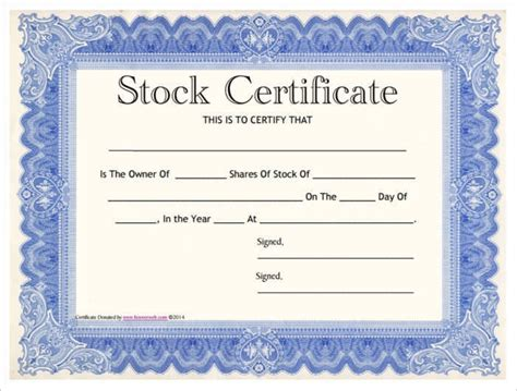 stock certificate template word best business template
