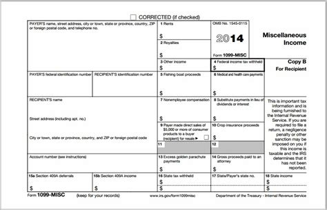 irs forms 1099 misc 2014 form resume exles erly5eallk