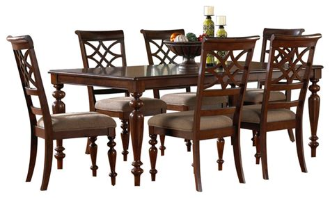 standard furniture woodmont 7 leg dining room set in