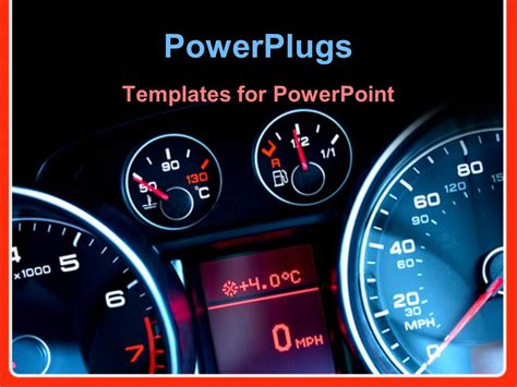 car themes for ppt powerpoint template car dashboard showing speed meter