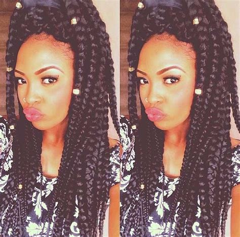 cute hairstyles for jumbo box braids 21 best jumbo box braids hairstyles jumbo box braids
