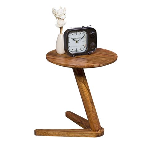 nachttisch 45 cm hoch finebuy beistelltisch massivholz design wohnzimmer tisch