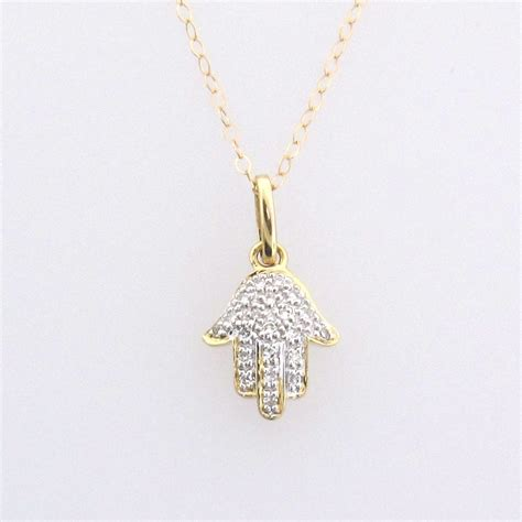 hama necklace 14k solid gold and hamsa necklace for