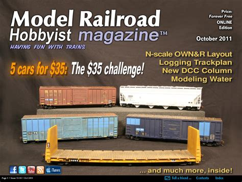 model railroad hobbyist magazine model trains model issuu mrh oct 2011 issue 20 by model railroad hobbyist