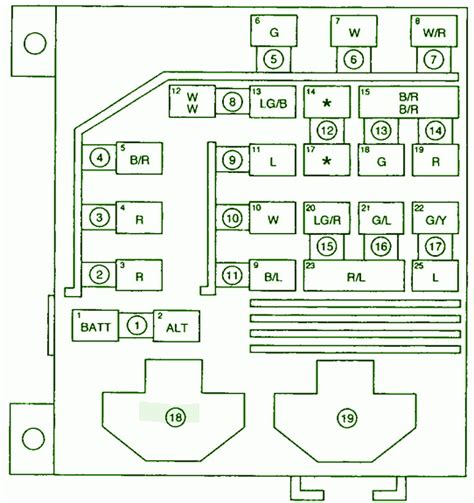 2001 kia sportage injection fuse box diagram circuit