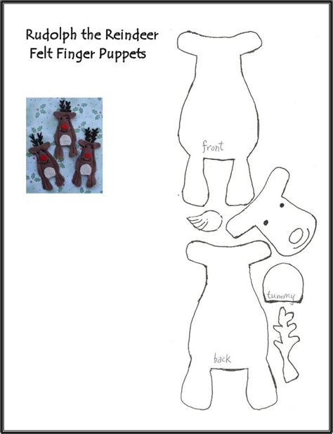printable christmas paper finger puppets reindeer finger puppet pattern christmas pinterest
