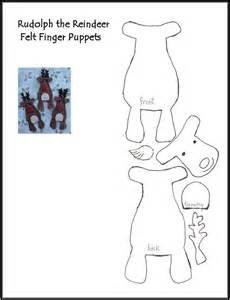 finger puppets templates reindeer finger puppet pattern