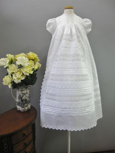 handmade christening gown baptism gown vintage antique