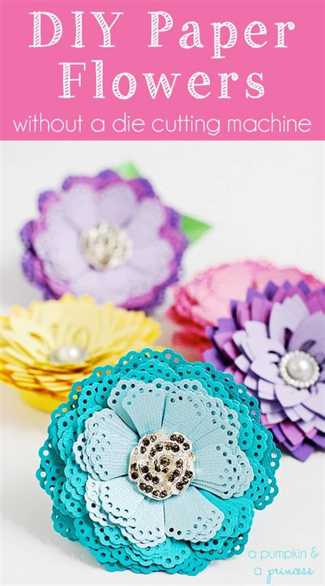 How To Make A Paper Die - how to make paper flowers without a die cutting machine