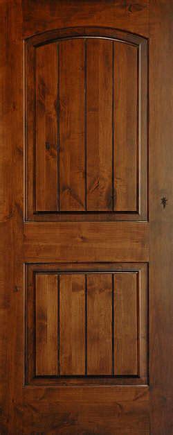 Interior Knotty Alder Doors Mediterranean Doors Knotty Alder Arch 2 Panel V Groove Door Mediterranean Interior Doors
