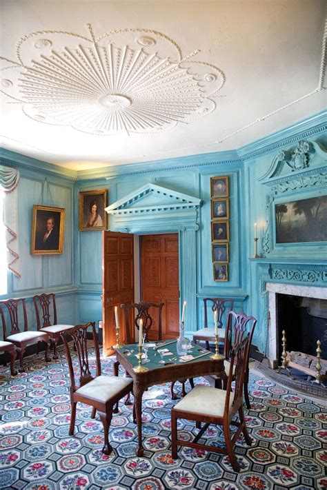 authentic colonial colors mansion rooms dining room