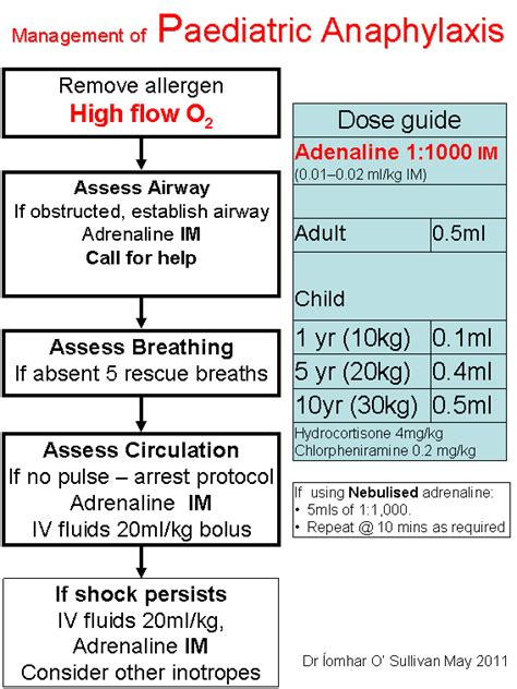 anaphylaxis flowchart anaphylaxis algorithm images search