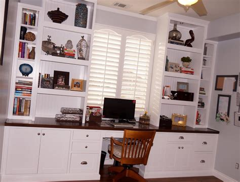 desk with cabinets built in custom home office cabinets in southern california