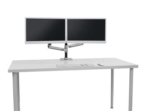 dual monitor office desk ergotron lx dual stacked desk mount lcd arm radius office