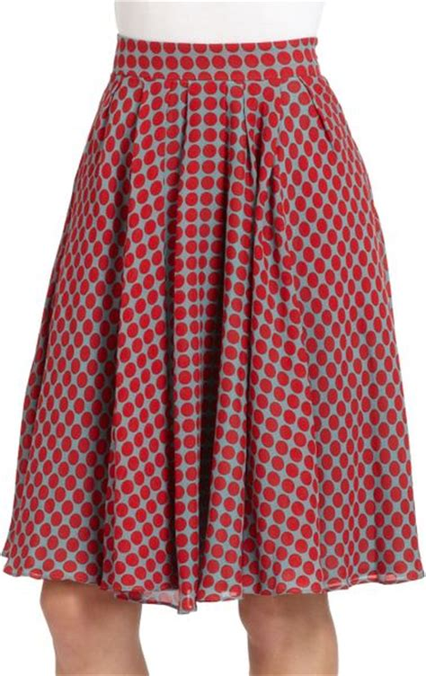 moschino cheap chic cotton silk plaid pleated skirt in
