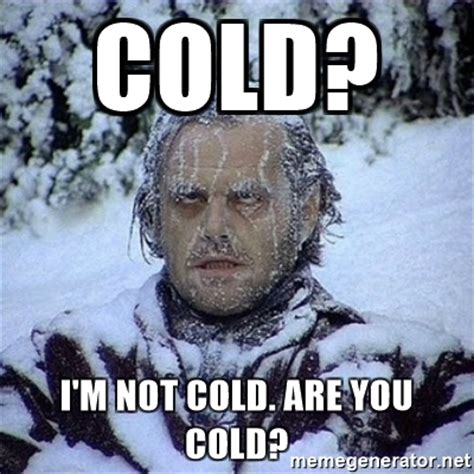 Funny Cold Memes - cold i m not cold are you cold frozen jack meme