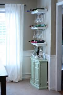 Small Bar Cabinet Ideas Raising The Bar Wine Bottle Glass Holder Small Spaces And Glass Holders