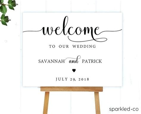 Instant Download Printable Welcome Signage 4 Sizes Editable Wedding Album Template Photoshop Welcome To Our Wedding Template Free
