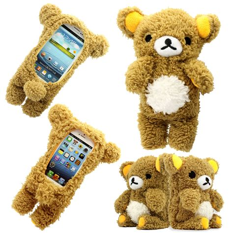 Samsung S7 Flat Teddy 3d Soft Casing Cover Ka Berkualitas 3d doll cool plush teddy cover for samsung apple smart phones ebay