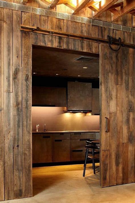 trendy kitchens  unleash  allure  sliding barn