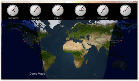 World Clock Map by Solar World Clock Download