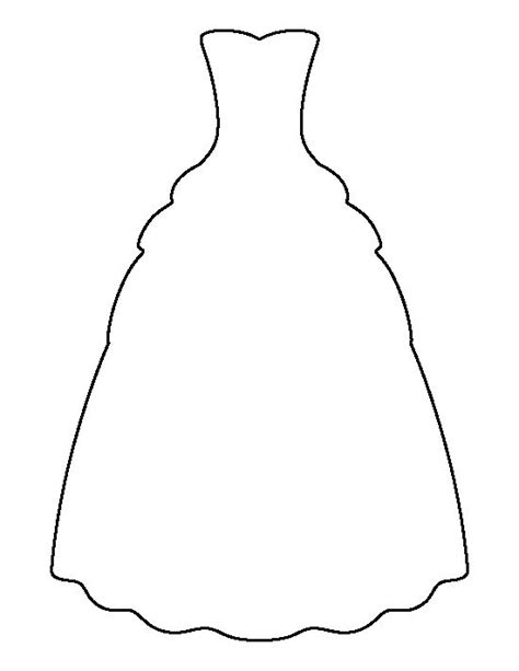 dress template gown pattern use the printable outline for crafts