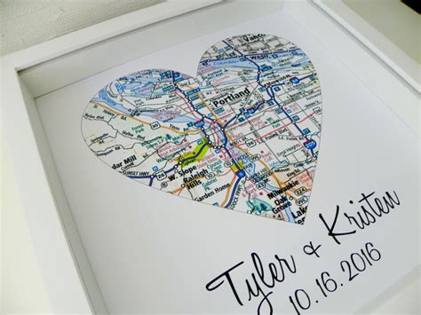 Wedding Gift Map by Wedding Gift Map Framed Print Personalized By