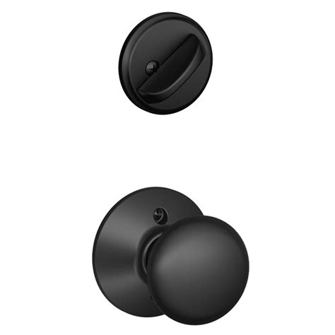shop schlage plymouth 1 5 8 in to 1 3 4 in matte black