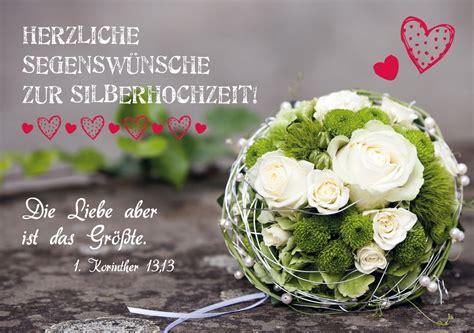 Karten Zur Silberhochzeit by Herzliche Segensw 252 Nsche Zur Silberhochzeit Faltkarte 2
