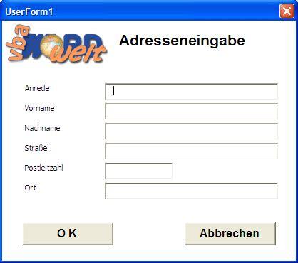 excel userform layout vba wordwelt grunds 228 tzliches userform