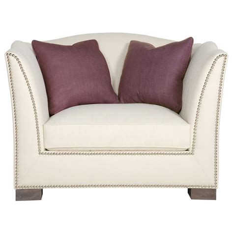 ivory armchair lane hollywood regency aged grey wood nickel ivory