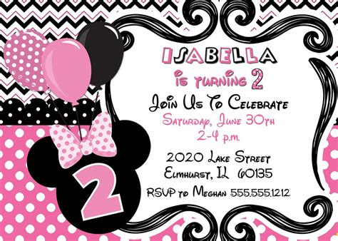minnie mouse birthday invitations birthday party invitations