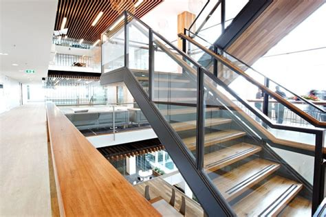 office stairs design a well designed steel pfc stair was integral to this project