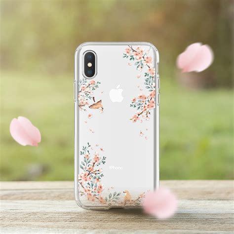 apple iphone  spigen liquid crystal blossom nature drop