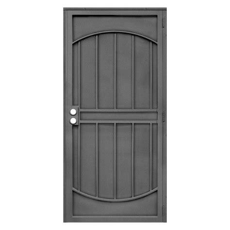 Steel Security Doors Design Ideas Unique Home Designs 32 In X 80 In Arcada Silverado Surface Mount Outswing Steel Security Door