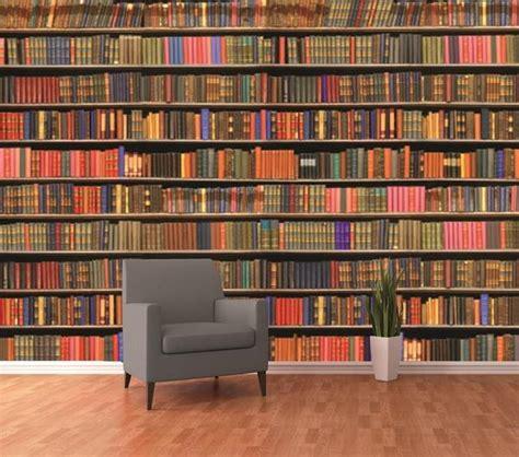Library Wall Mural bookshelf library wall mural furniture essentials