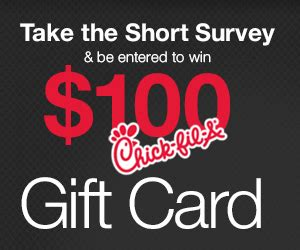 Chick Fil A Gift Card Promotion - 100 chick fil a gift card non incent us