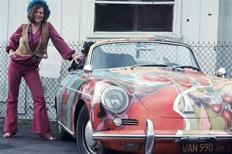 janis joplins psychedelic porsche   auction boing boing