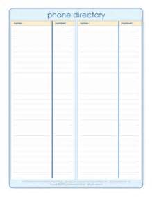 printable phone book template phone directory organized home