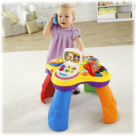 fisher price laugh and learn puppy table toys for 9 month old baby sorting building toys