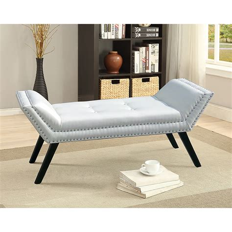 Baxton Studio Tamblin Modern And Contemporary White Faux Ottoman And Benches
