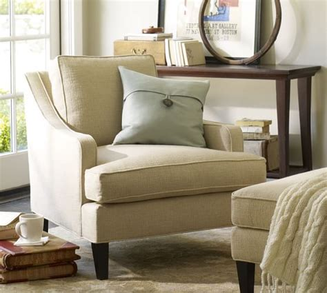 pottery barn armchair landon upholstered armchair pottery barn