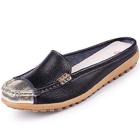uown s slip on backless loafers casual