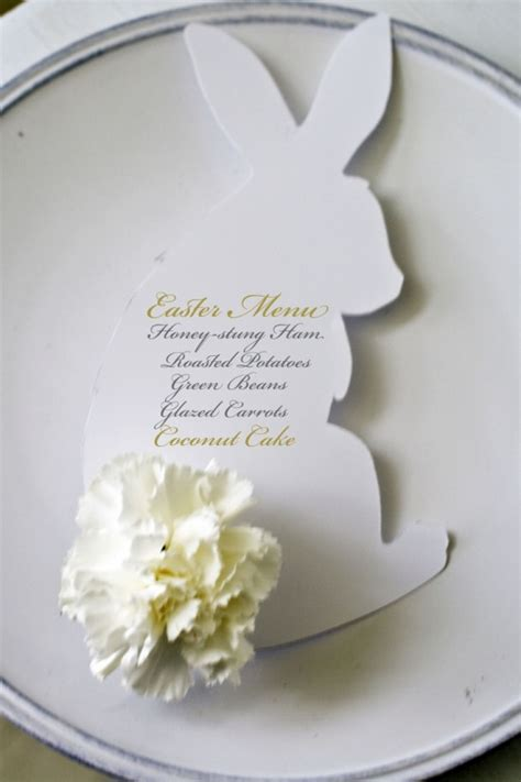 Easter Place Card Template by Easter Menu Place Card Idea