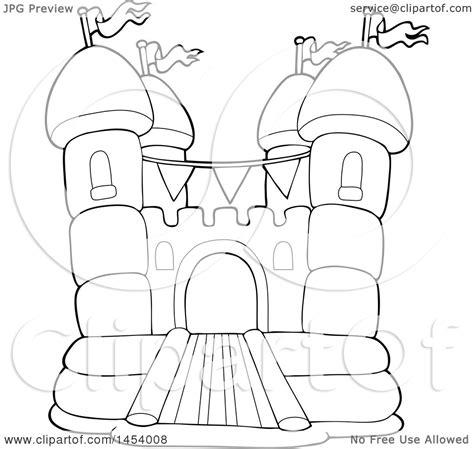 bouncy castle coloring page bounce castle coloring pages