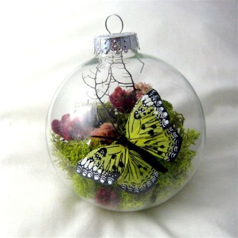 butterfly ornaments yellow butterfly ornament