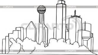 dallas skyline stock vector graphics cliparto