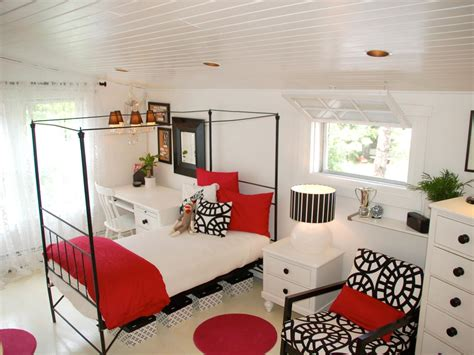 black red and white bedroom ideas organizing a teen s bedroom hgtv